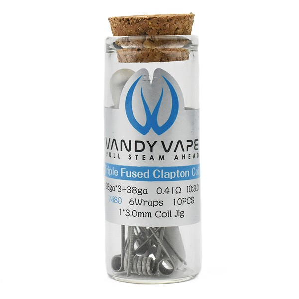 Vandy Vape Prebuilt Ni80 Triple Fused Clapton Coil 0.41 Ohm 10x