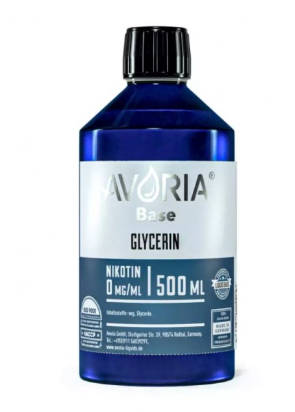 Avoria Glycerin Base VG Basis Liquid 500ml