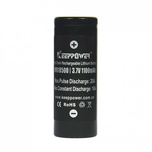 Keeppower IMR18500 1100mAh 3,7V Li-Ionen Akku