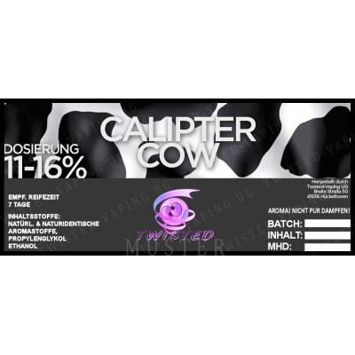 TWISTED Aroma CALIPTER COW (Erdnuss, Vanille)