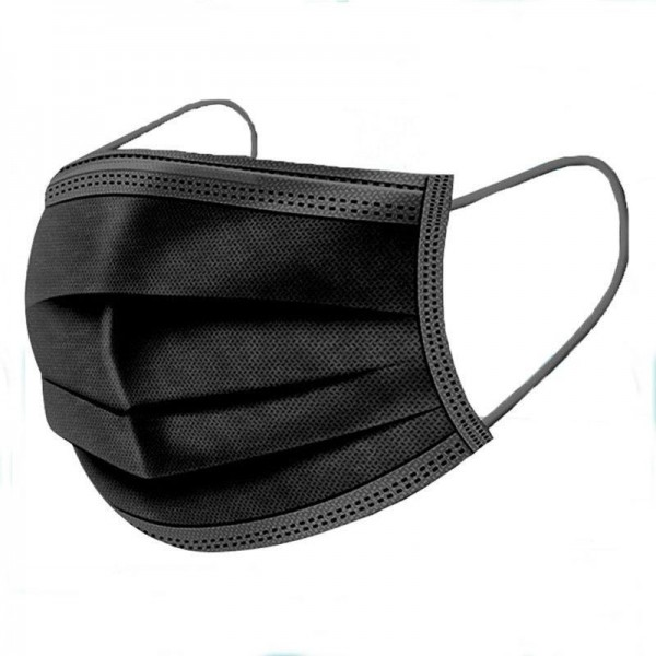 OP-Masken 3-lagig. Farbe: Schwarz.